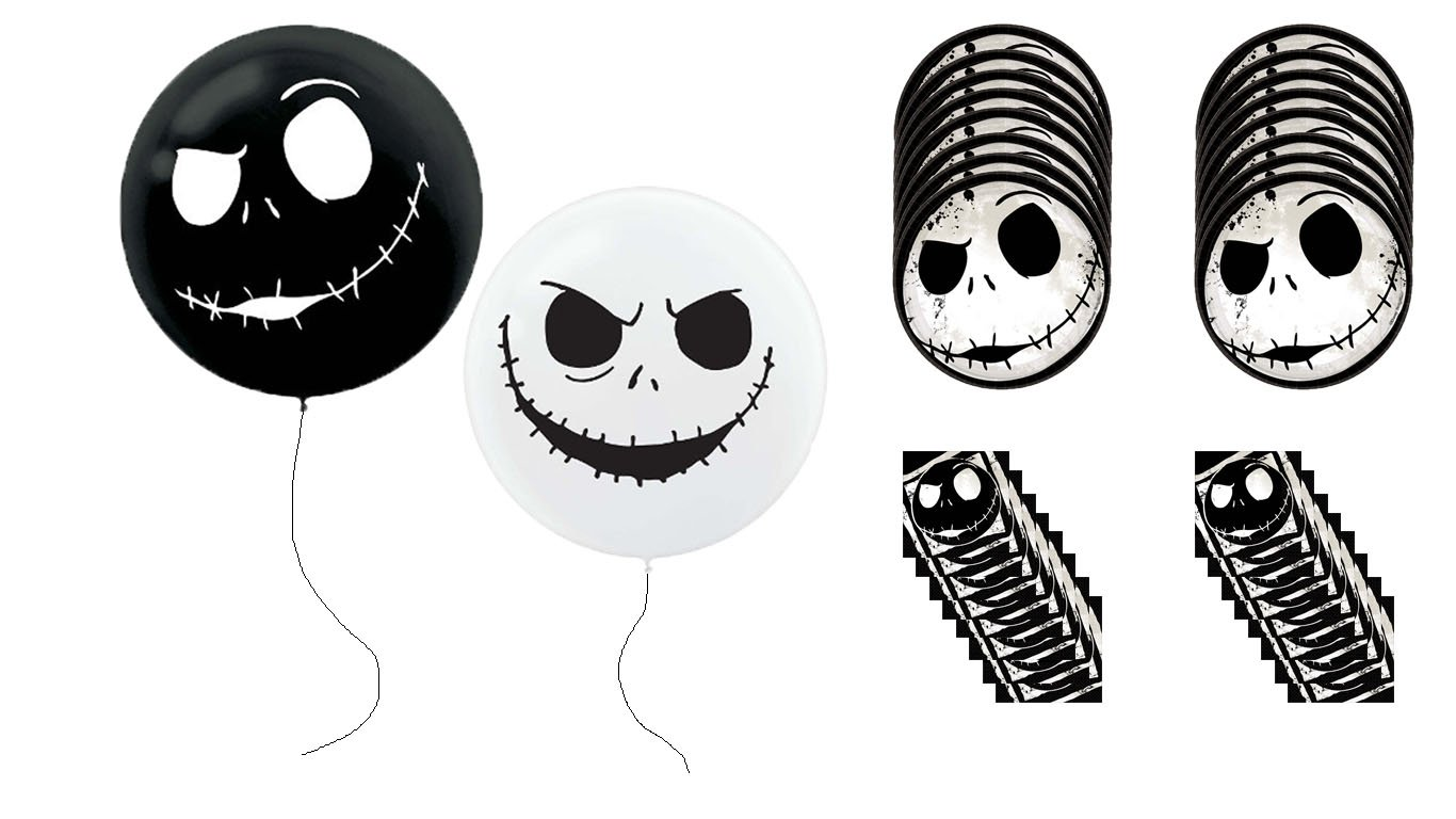 Nightmare Before Christmas Jack Skellington Party Balloons Plates Napkins by Enlightening Minds