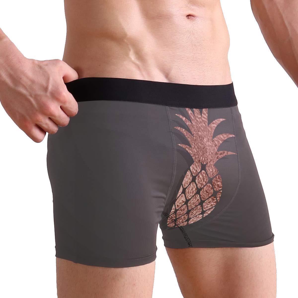 BETTKEN Mens Boxer Briefs Tropical Fuit Pineapple Print Short Underwear Soft Stretch Underpants for Men Boys S-XL
