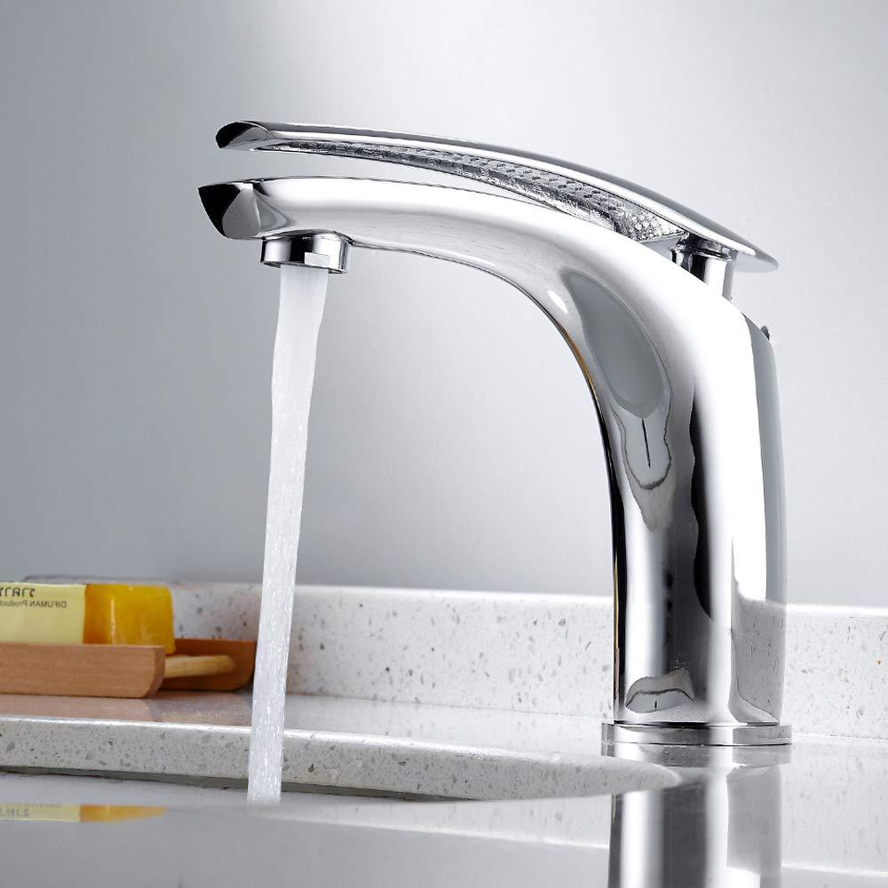 Waschtischarmatur Einhebelmischer Wasserhahn für Waschbecken Wasserhahn Mischbatterie Chrom kreativ