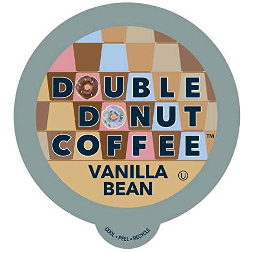 Double DonutVanilla BeanFlavored Coffee, in Recyclable Single Serve Cups for Keurig K-Cup Brewers, 24 Count