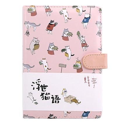 Cuaderno De Colores Degradados Con Bonitos Dibujos Animados De Gato