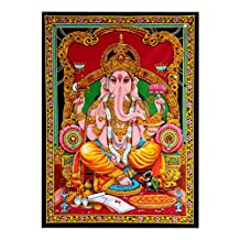Lord Ganesha Tapestry Wall Decor Hanging Indian Tapestries By Rajrang