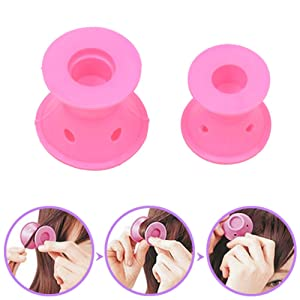 CkeyiN ¨ 20pcs Silicone No heat Hair Curlers Magic Soft Rollers Hair Care DIY Styling Tools (2 Sets)