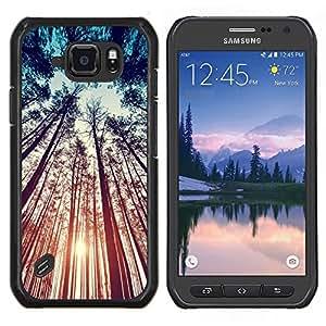EJOOY---Cubierta de la caja de protección para la piel dura ** Samsung Galaxy S6Active Active G890A ** --Bosque Naturaleza Summer Sky Ray