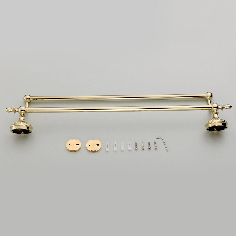 Weare Weare Weare Home Badzubehör Modern Ti-PVD Finish Messing Antik Material Doppelhandtuchhalter Wandmontage Badzimmer Accessories B01IK0BWUS Handtuchhalter & -stangen c74e80