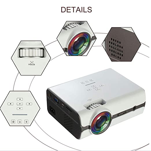 HLKYB Proyector para el hogar, proyector portátil, Compatible con ...