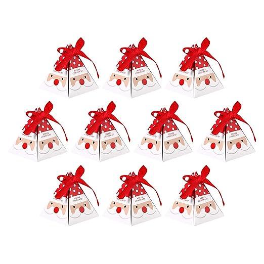 10 bolsas de regalo de Navidad con cinta para chocolate ...