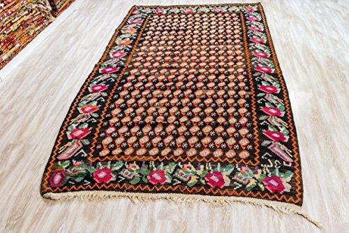 Armenian Rug, Vintage Kilim Rug 4.82x8.17 ft (147x249 cm)