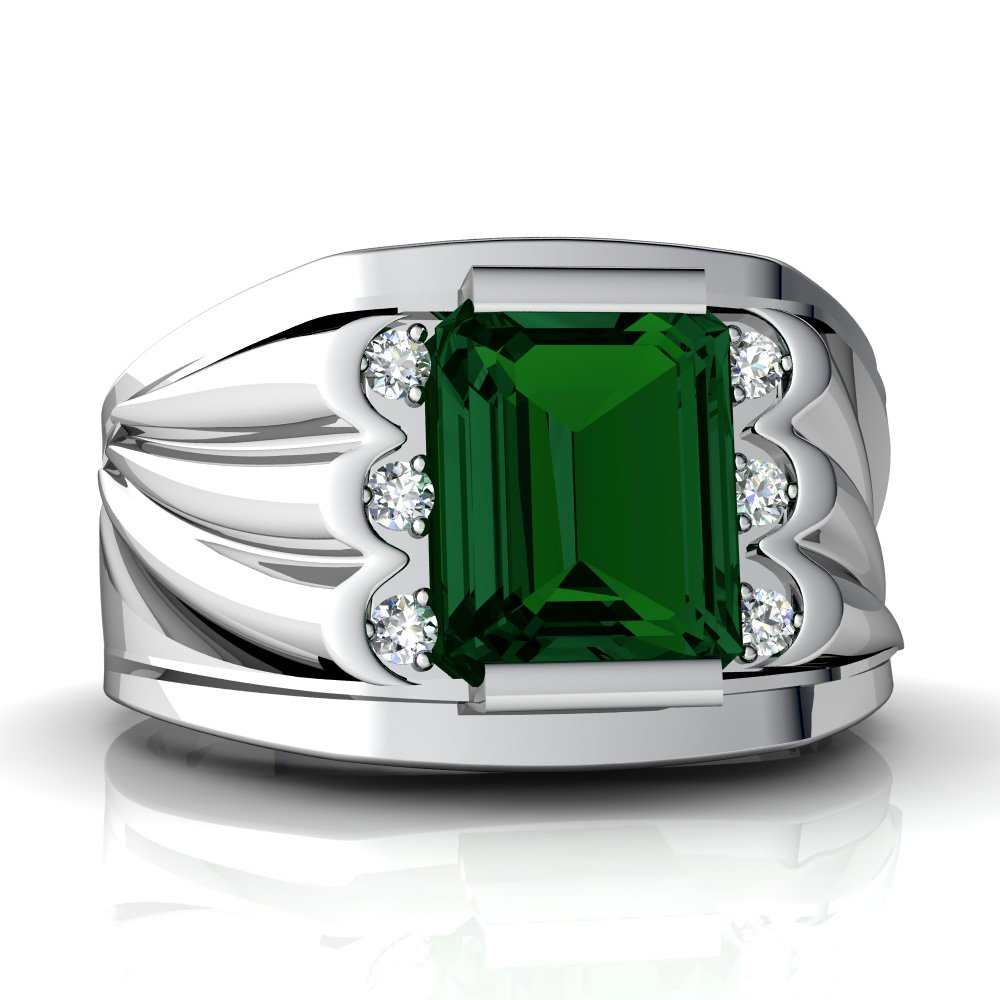 emerald men Emerald jewelry shines a rich & majestic green hue the emerald gemstone is also the may birthstone may's emerald birthstone is a symbol of rebirth and is believed to bring the wearer good fortune & youth.