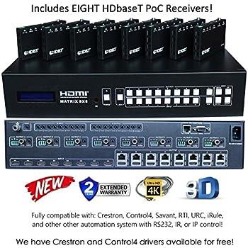 Amazon Com 8x8 Hdmi 2 0 Hdr 4k 60hz Matrix Switcher Yuv