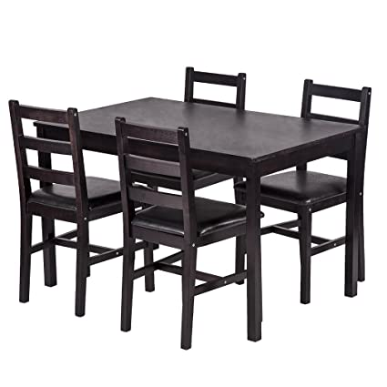 Image Unavailable  sc 1 st  Amazon.com & Amazon.com - BestMassage Dining Table Set Kitchen Dining Table Set ...