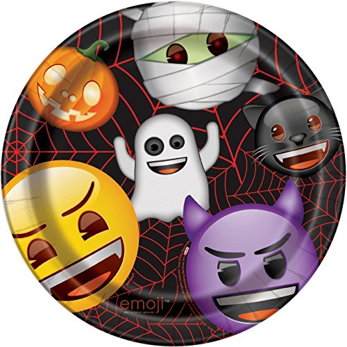 [Emoji Halloween Dinner Plates, 8ct] (Halloween Party Ideas For Teens)