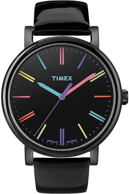 Timex T2N791 - Reloj análogico de cuarzo con correa de cuero para mujer 96d4f7615fb3