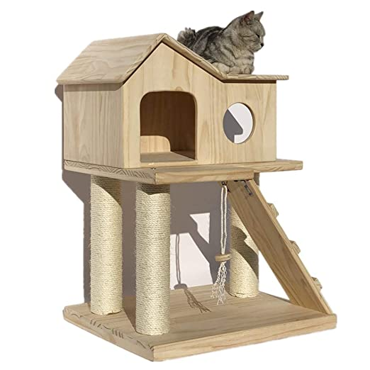 Gato trepador Torre de los Gatos Hamaca de madera Cat Inicio de ...