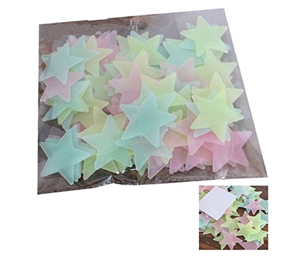 Hosaire Wandaufkleber Fluoreszierende Stickers DIY Wand-Dekoration Aufkleber Babyroom Dekoration Wandtattoo(100 Stück)