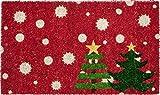 Entryways Christmas Trees Non- Slip Coconut Fiber Doormat 17'' X 28'' X .5''
