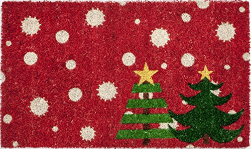 Entryways Christmas Trees Non- Slip Coconut Fiber Doormat 17