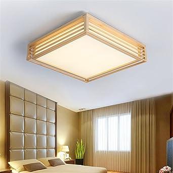 BRIGHTLLT Hölzerne Lampe Einfaches Modernes Kreatives Wohnzimmer Geführtes Japanisches  Schlafzimmer Deckenlicht Dreifarbiges Dimmen, 450mm: Amazon.de: ...