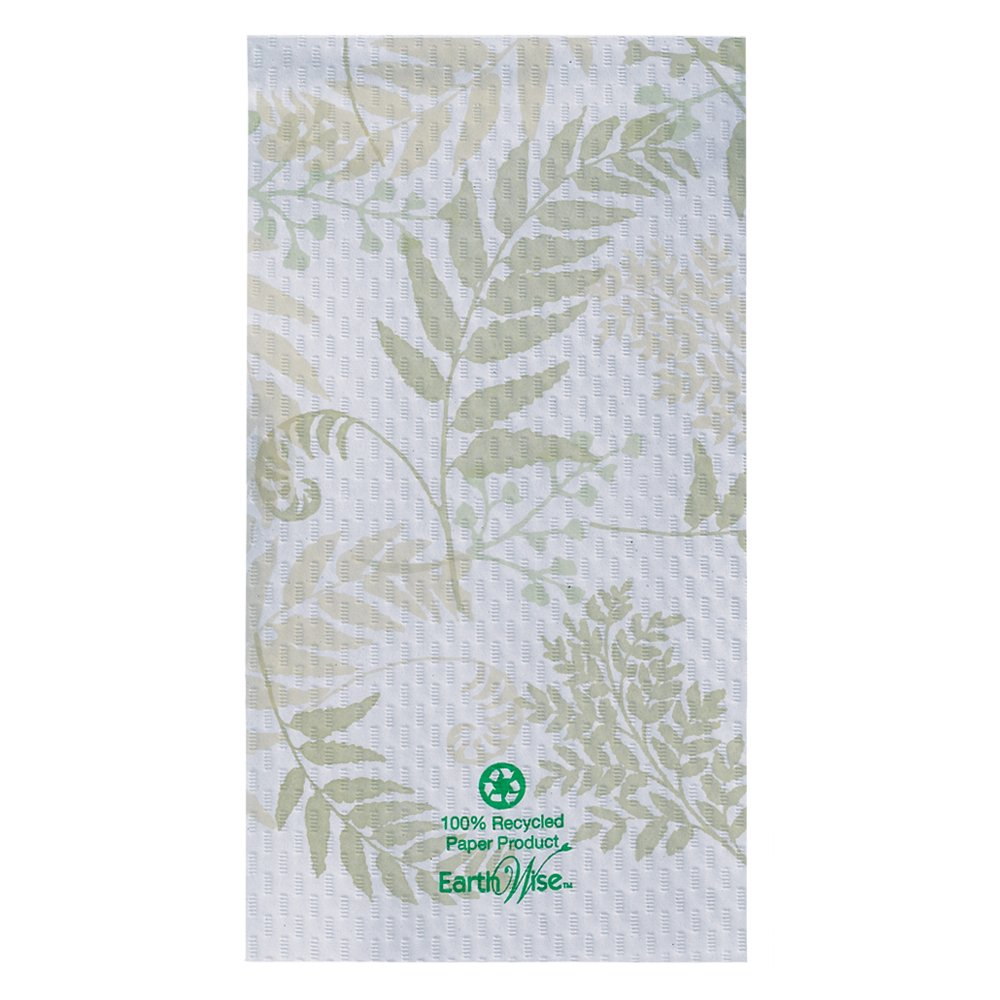 Hoffmaster 856301 Earth Wise Recycled Paper Guest Towel, Overall Embossed, 2 Ply, 1/6 Fold, 17'' Length x 13'' Width, Nature's Greens (Case of 1000) by Hoffmaster