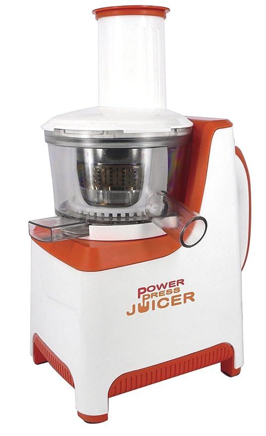 Windirect Power Press Juicer Exprimidor 250 W, Blanco y naranja: Amazon.es: Hogar