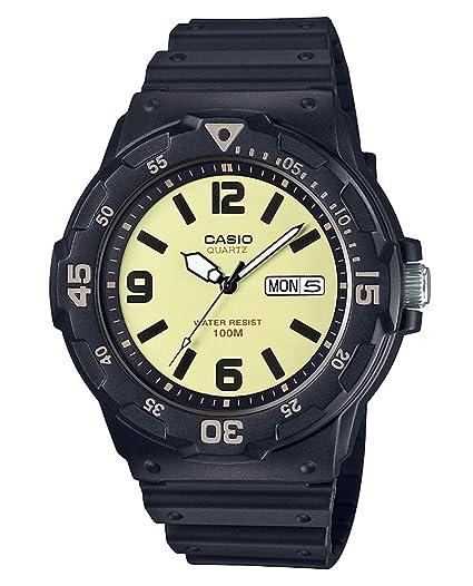 Casio Reloj Analógico para Hombre de Cuarzo con Correa en Resina MRW-200H-5BVEF: Amazon.es: Relojes