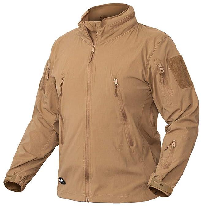 Amazon.com: Lightweight Tactical Jacket Men Waterproof Mulit Pockets Military Jackets Army Clothing Breathable Bylon Windbreaker: Clothing