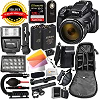 Nikon COOLPIX P1000 Digital Camera with Deluxe Accessory Bundle - Includes: SanDisk Extreme PRO 128GB SDXC UHS-I Memory Card, Extra Battery, Digital Slave Flash & Much More (International Version)