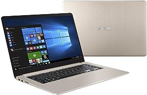 ASUS S510UN-EH76 VivoBook S 15.6in Full HD Laptop, Intel Core i7-8550U, NVIDIA GeForce MX150, 8GB RAM, 256GB SSD + 1TB HDD, Windows 10 (Renewed)