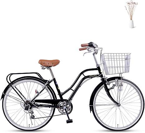 GHH Bicicleta Bici de Paseo,24 6 Velocidades Bicicleta de Ciudad ...