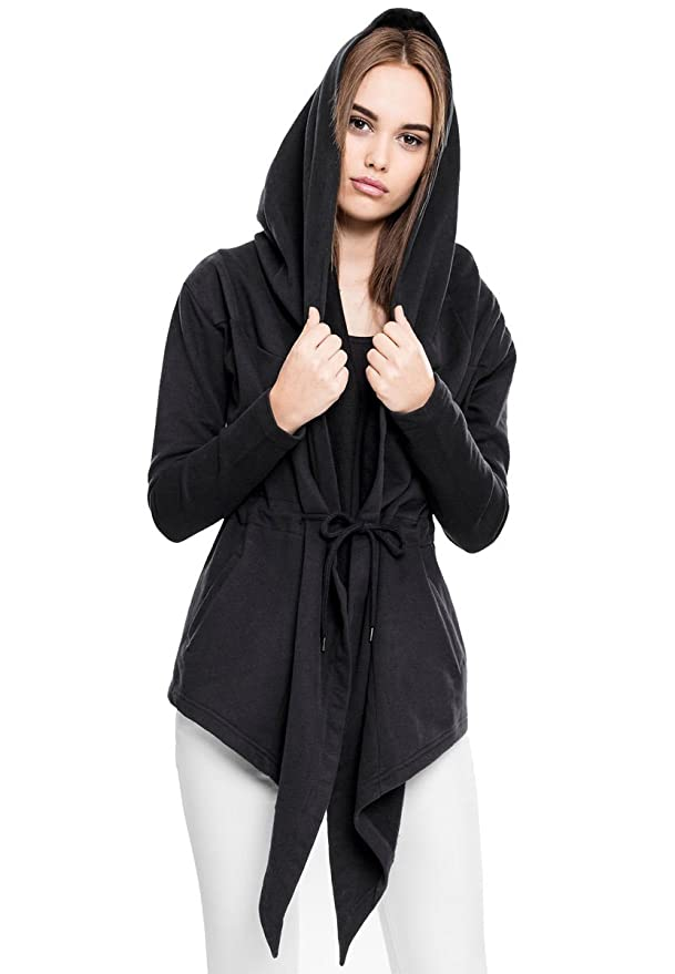 4c1db827e9 Urban Classic Hoodie Women s - Sweat Cardigan TB1330-black  Amazon.co.uk   Clothing