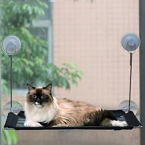 cat window perchstainless steel wireless cat hammock widened frame window suction cup amazon     cat window perch stainless steel wireless cat      rh   amazon