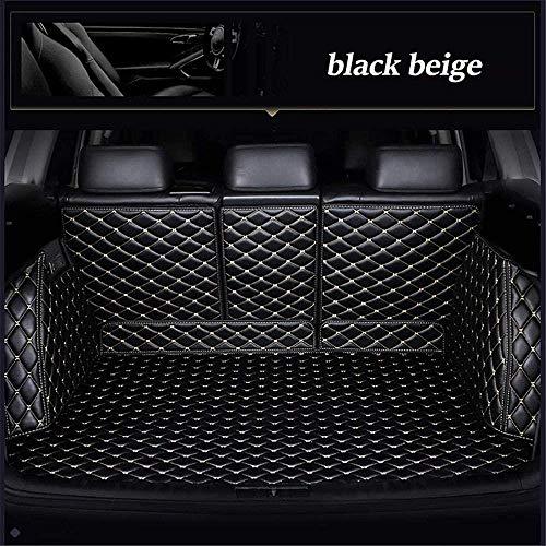 0beilita Kofferbakmat voor Volvo Xc90 2015 2017 2018 2019 Kofferbaktapijt Kofferbak Matten Auto Accessoires, Zwart beige