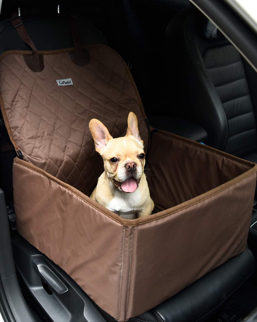 Pet Dog Car Seat Cover 3 in 1 Supplies Thick Waterproof Single Front Seat Car Mat Booster Bag Pet Carrier Seat Protector Travelling Black Mingzheng