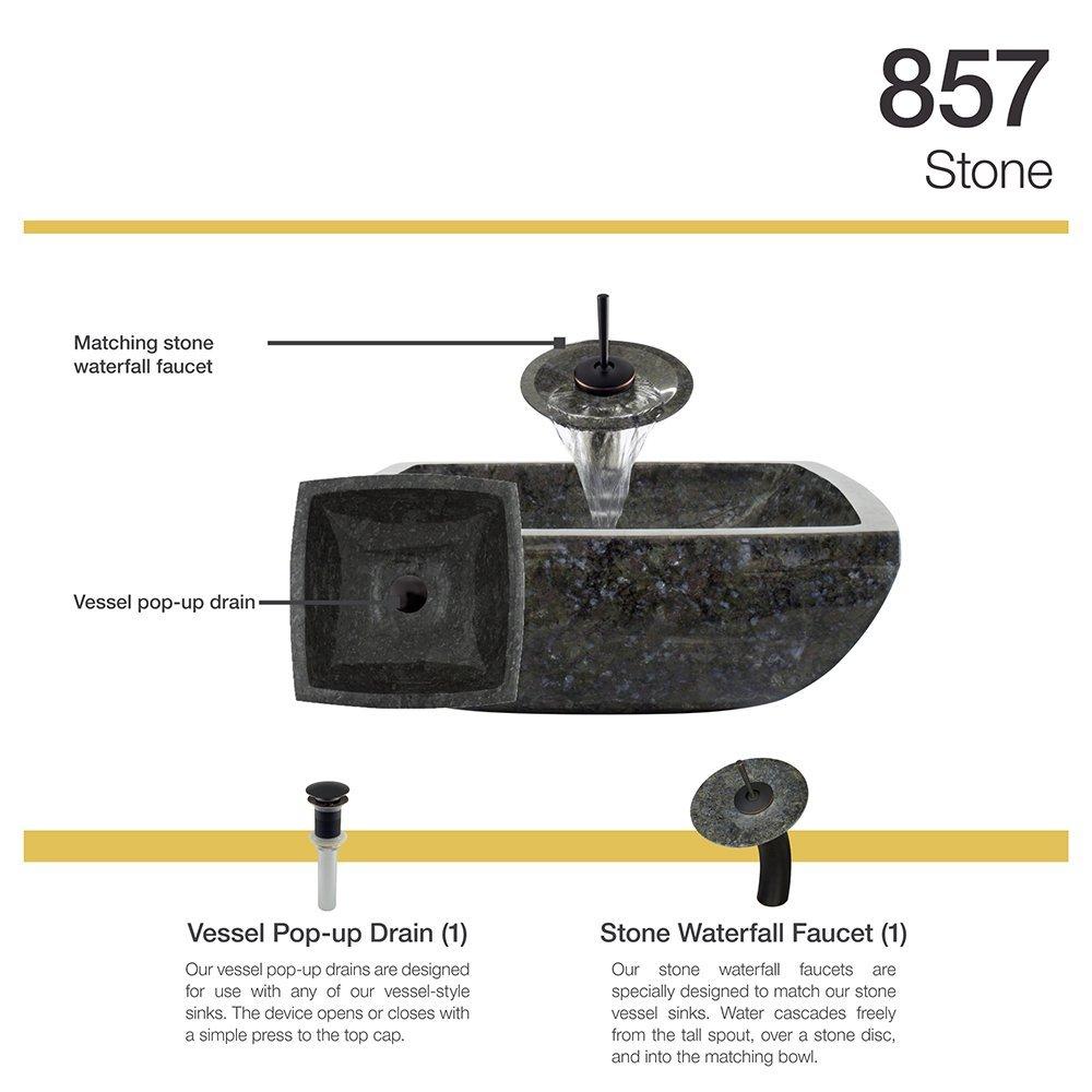 857 Butterfly Blue Granite Vessel Sink Antique Bronze Bathroom ...