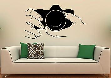 Buy Cvanu Camera Wall Decal Snapshot Vinyl Stickers Photo Studio Interior Design Art Murals Housewares Bedroom Wall Decor Online At Low Prices In India Amazon In
