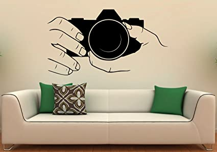 Buy CVANU Camera Wall Decal Snapshot Vinyl Stickers Photo Studio - Wall stickers for bedrooms interior design
