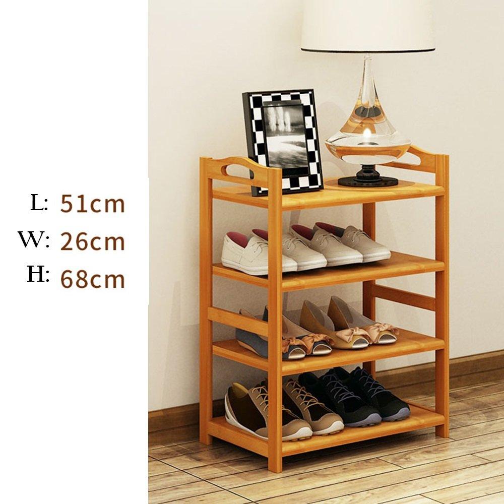 ZHIRONG Shoe Rack, 4 Tier Bamboo Shoe Rack Storage Organiser Entryway Shoe Shelf Made 100% Natural Bamboo 512668CM / 602668CM / 682668CM / 782668CM / 882668CM by Storage rack (Image #2)