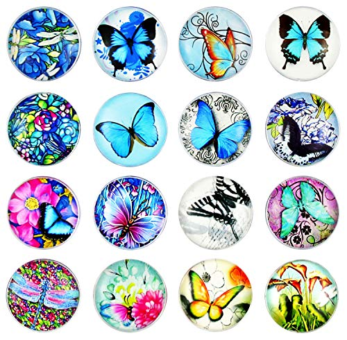 (Update)Pack-16 Butterfly Refrigerator Magnets, Crystal Glass Fridge Magnets, Cosylove Fashionable Magnets Decorate Home, Photos, Cabinets, Whiteboards