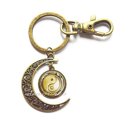 Llavero Yin-Yang, llavero Yin Yang Moon, llavero chino Yin ...