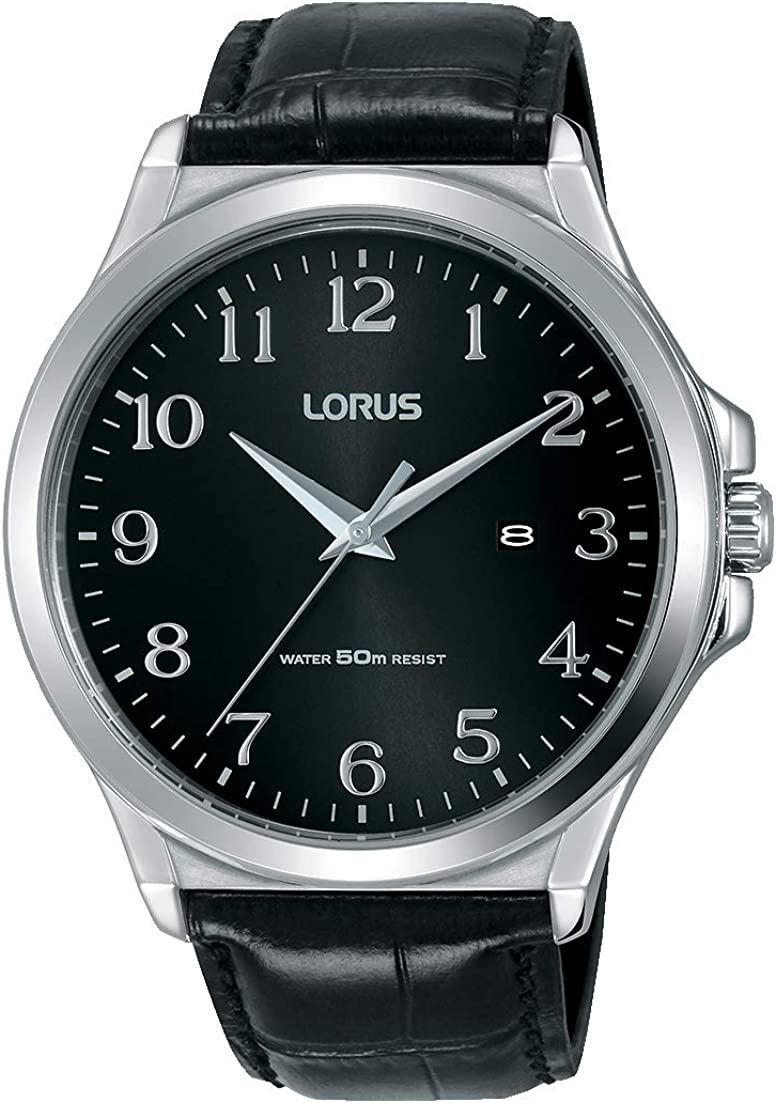 Lorus Reloj Analógico para Hombre de Cuarzo con Correa en Cuero RH969KX8