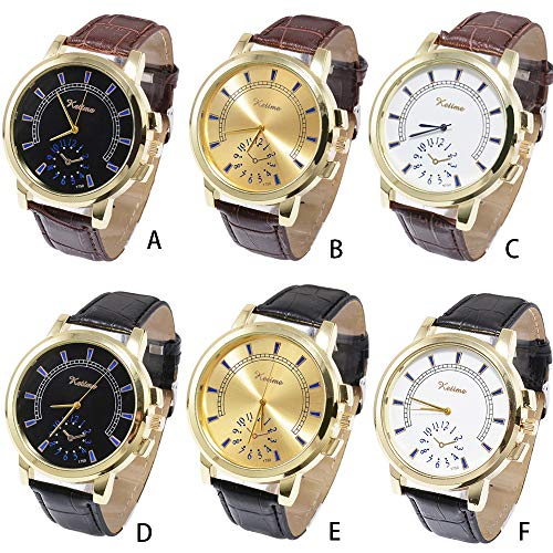 g Chronograph Watches Men's Sport Wrist Watch Black Leather Strap with Date Mechanical Watch Tourbillon Luxury Brand Military Leather Sports Man Watch (F) ()