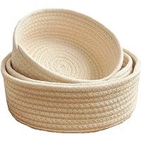 Cestas de punto redondas de algodón de Faneli