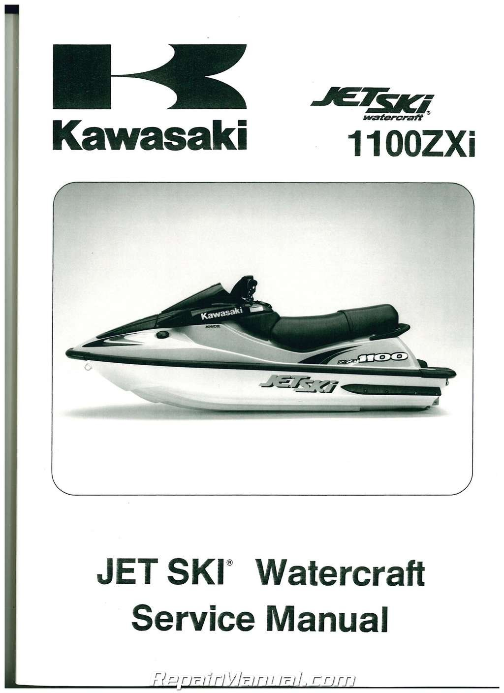 99924-1195-04 1996-2002 Kawasaki 1100 ZXi 1999 1100 STX Jet Ski Factory  Service Manual: Manufacturer: Amazon.com: Books