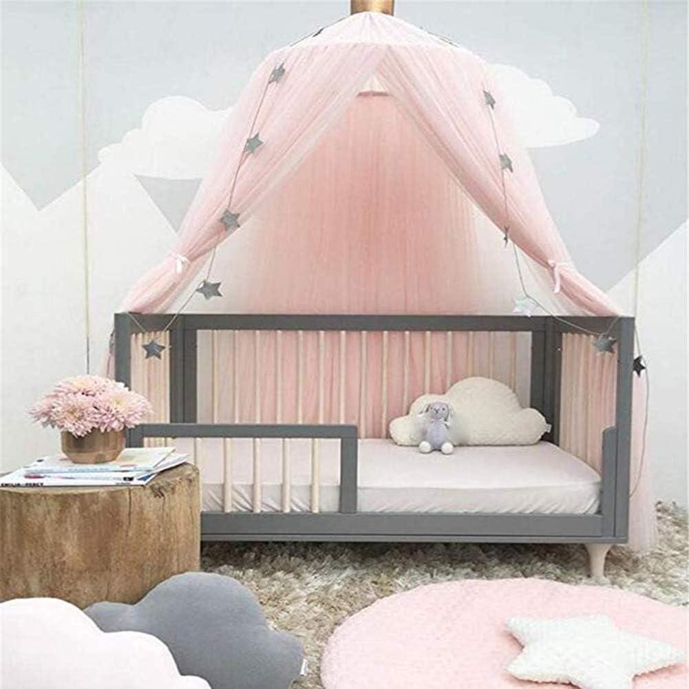 CXJUN Kids Bed Canopies Yarn Crib Netting Princess Girls Bed Canopy Toddler Baby Crib Mosquito Net Curtains Mesh Lace Round