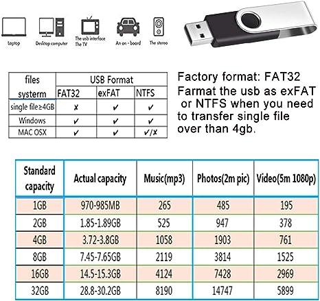 Pendrive 2Gb 10 Piezas Económico Memorias Usb 2.0 - Negro Kit de Pen Drive 2 Gb Práctica y Portátil Giratoria Unidad Flash Usb - Febniscte Almacenamiento Datos Externo Llave Usb Regalos Promocionales: Amazon.es: Informática