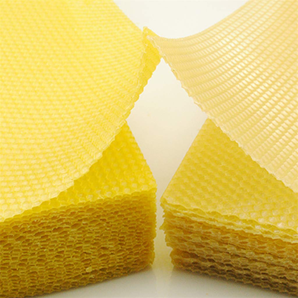 Beehive Wax Frames Base Sheets for Beekeeping Apiculture Bee Culture CMrtew 30 Sheet Honeycomb Bee Wax Foundation