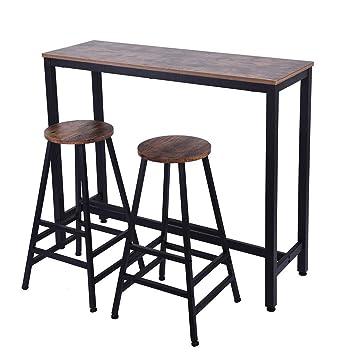 Swell Amazon Com Naiflowers 2 Set Bar Stools Square Leg Retro Customarchery Wood Chair Design Ideas Customarcherynet