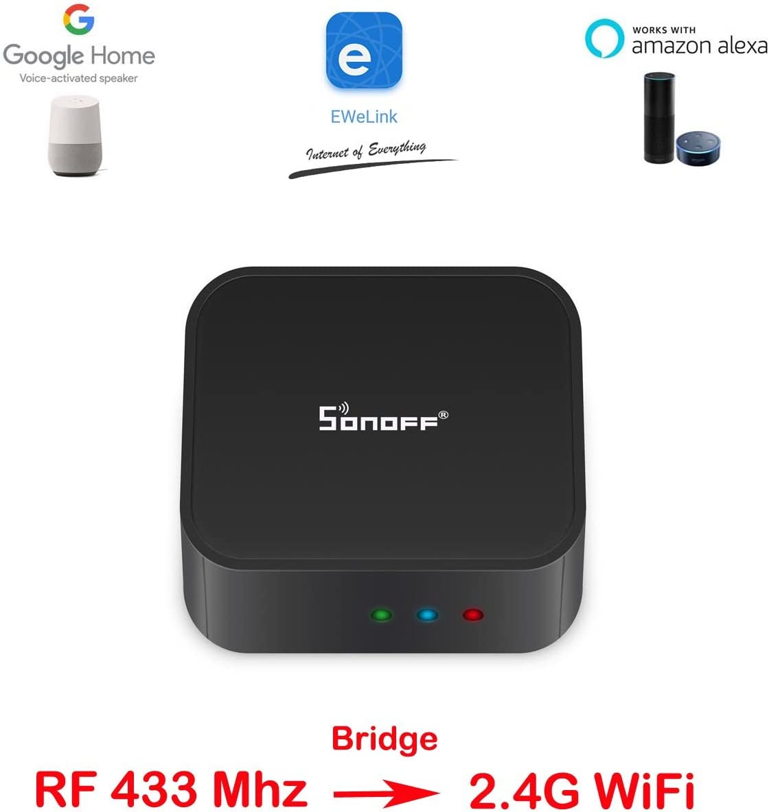 X 2 PCS) Sonoff PIR 433 Mhz Wireless Dual Infrared Human Sensor for Smart Home Automation Security Alarm System,work with RF 433 Bridge via EWeLink App