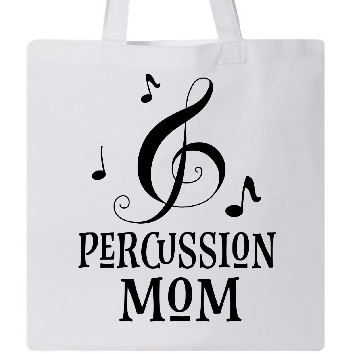 Inktastic – Percussion Mom Marching Band Drummerギフトトートバッグ One Size B075QLVGFK  ホワイト