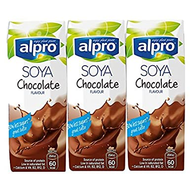 Alpro Soya Chocolate Flavoured Drink 3x250ml 5 Pack